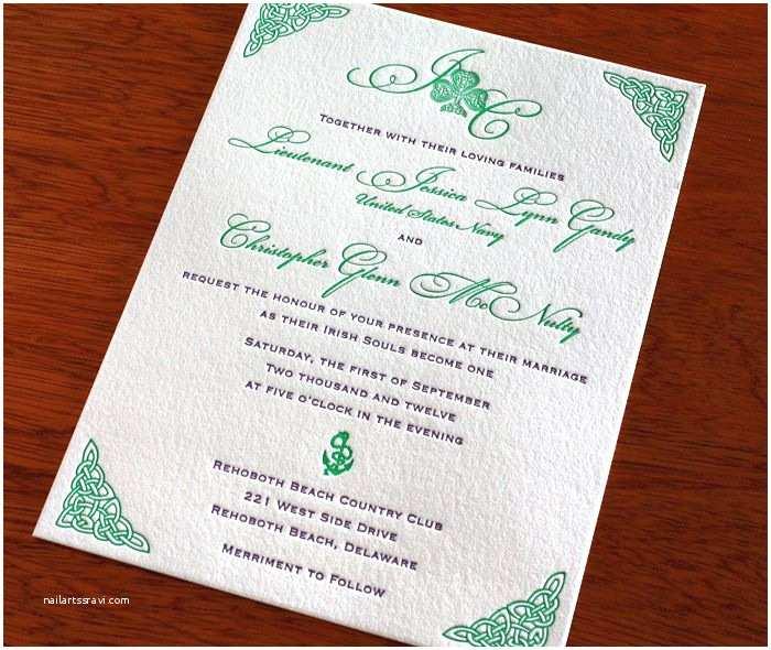 Celtic Wedding Invitations Celtic Wedding Invitation Perfect Irish Wedding