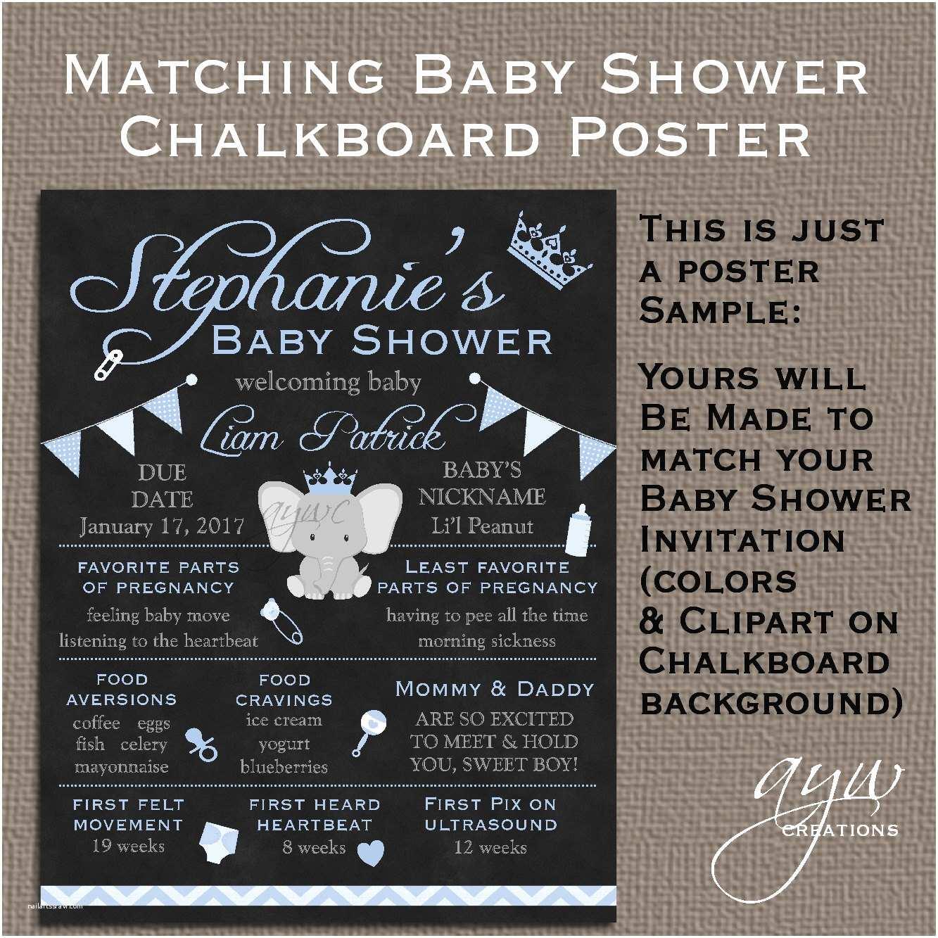 Chalkboard Baby Shower Invitations Baby Shower Chalkboard Poster Baby Shower Chalkboard Sign