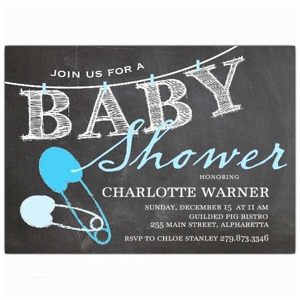 Chalkboard Baby Shower Invitations Blue Chalkboard Clothespin Baby Shower Invitations
