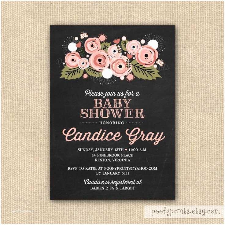 Chalkboard  Shower Invitations Chalkboard  Shower Invitations Diy Printable