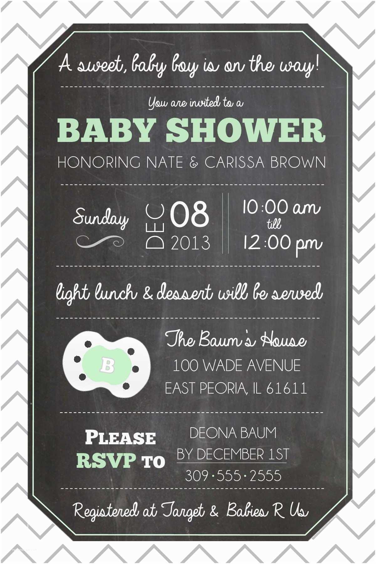 Chalkboard Baby Shower Invitations Chalkboard Inspired Invitations Baby Shower &
