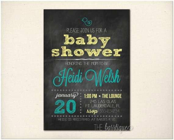 Chalkboard Baby Shower Invitations Custom Chalkboard Baby Shower Invitations