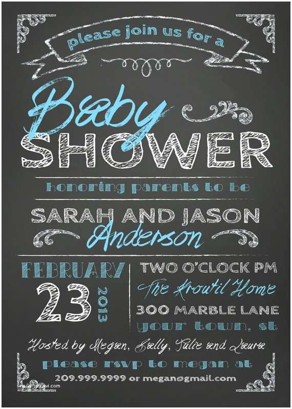 Chalkboard Baby Shower S Items Similar To Couples Baby Shower