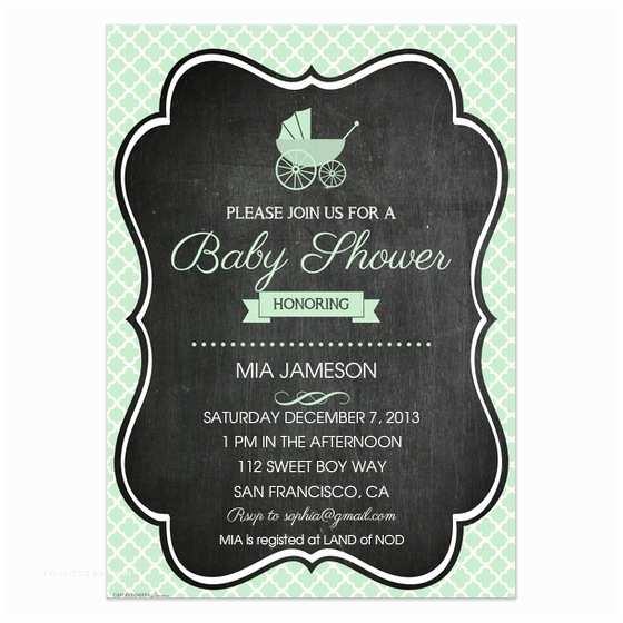 Chalkboard Baby Shower Invitations Mint Chalkboard Baby Shower Invitation Invitations