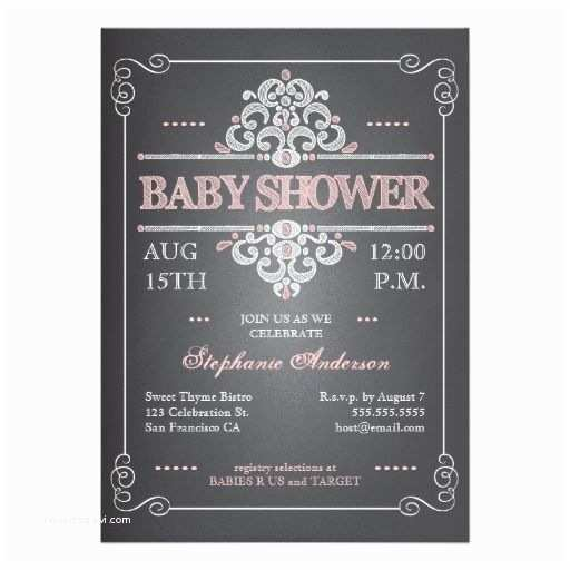 Chalkboard Baby Shower S Vintage Chalkboard Girl Baby Shower