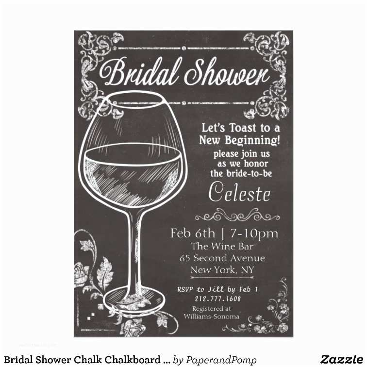 Chalkboard Bridal Shower Invitations Bridal Shower Chalk Chalkboard Wine Invitation