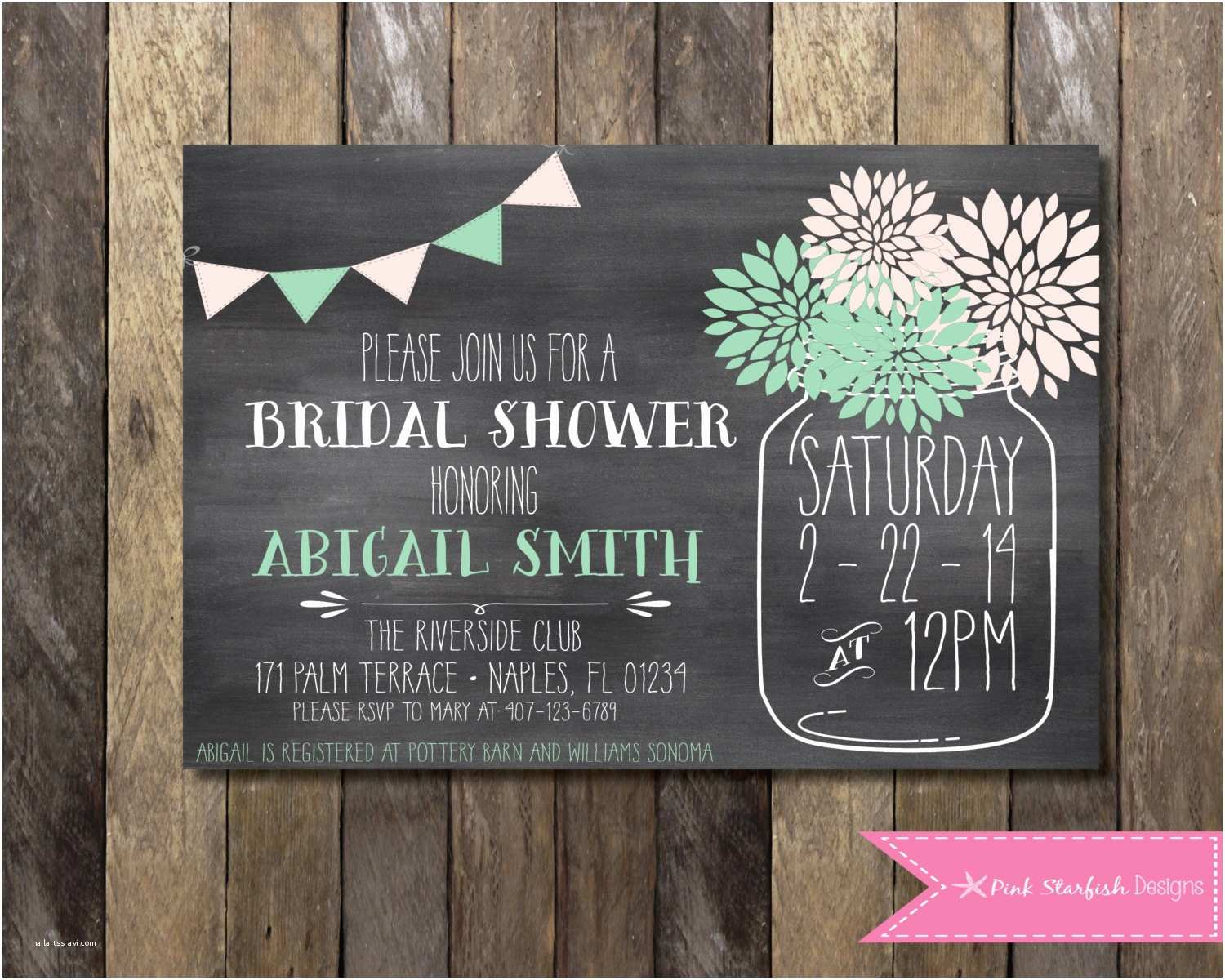 Chalkboard Bridal Shower Invitations Bridal Shower Invitation Chalkboard Invitation Chalkboard