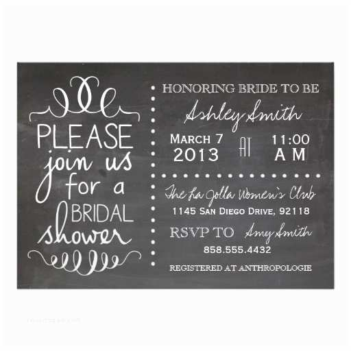 Chalkboard Bridal Shower Invitations Bridal Shower Invitations Bridal Shower Invitations