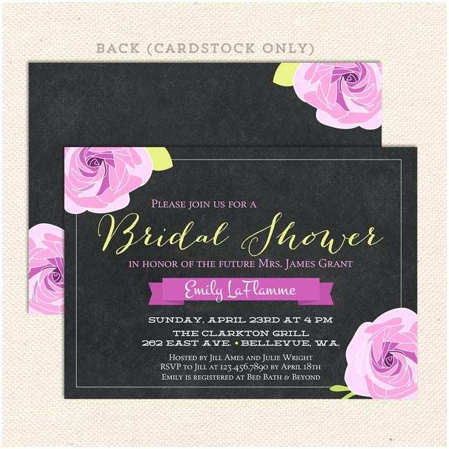 Chalkboard Bridal Shower Invitations Chalkboard Bridal Shower Invitations – Lil Sprout Greetings