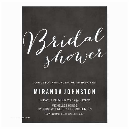 Chalkboard Bridal Shower Invitations Chalkboard Bridal Shower Invitations