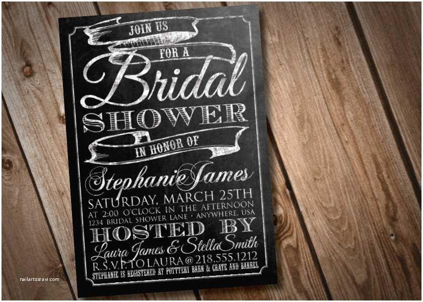 Chalkboard Bridal Shower Invitations Diy Printable Chalkboard Bridal Shower Invitation