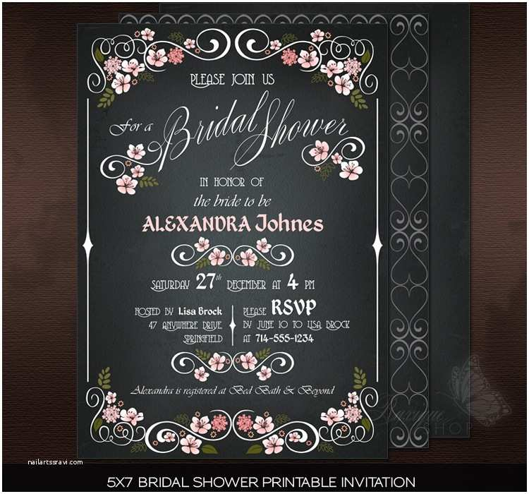 Chalkboard Bridal Shower Invitations Elegant Bridal Shower Invitations Chalkboard Ideas