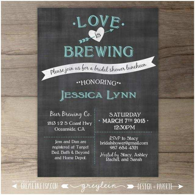 Chalkboard Bridal Shower Invitations Love is Brewing • Bridal Shower • Wedding Engagement