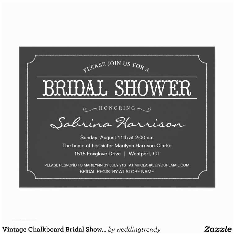 Chalkboard Bridal Shower Invitations Vintage Chalkboard Bridal Shower Invitations