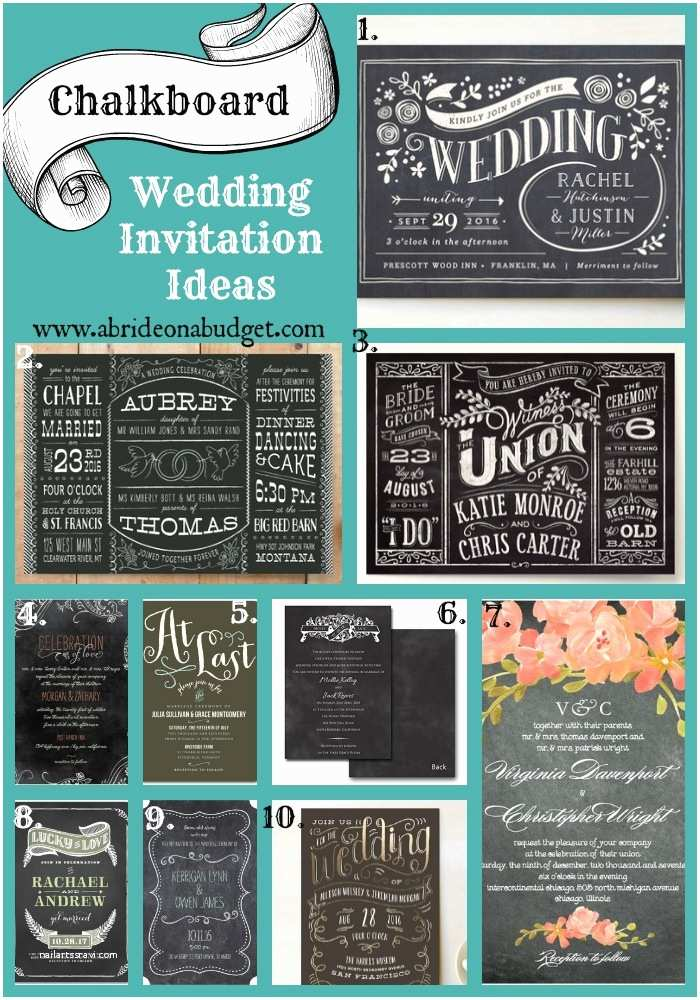 Chalkboard Wedding Invitations Chalkboard Wedding Invitation Ideas