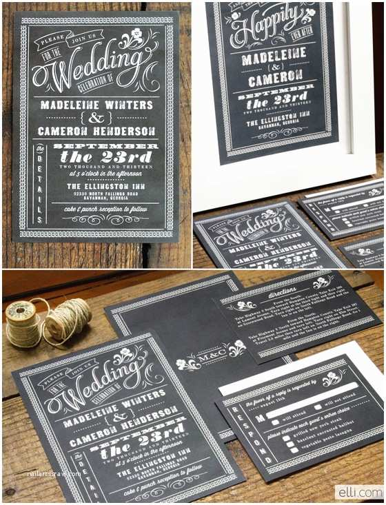 Chalkboard Wedding Invitations Design Your Perfect Wedding Invitations Chalkboard
