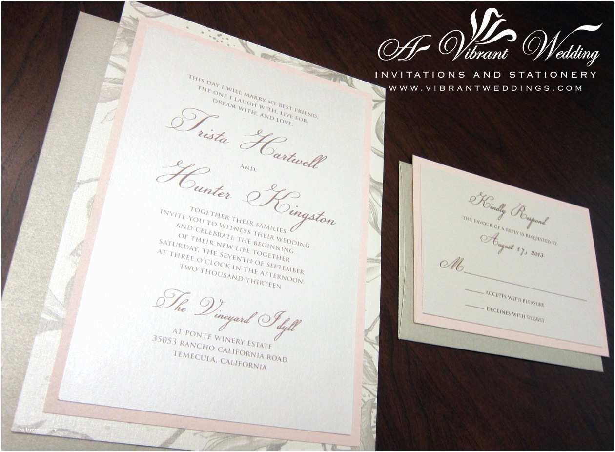 Champagne Wedding Invitations Blush and Champagne Wedding Invitation – A Vibrant Wedding