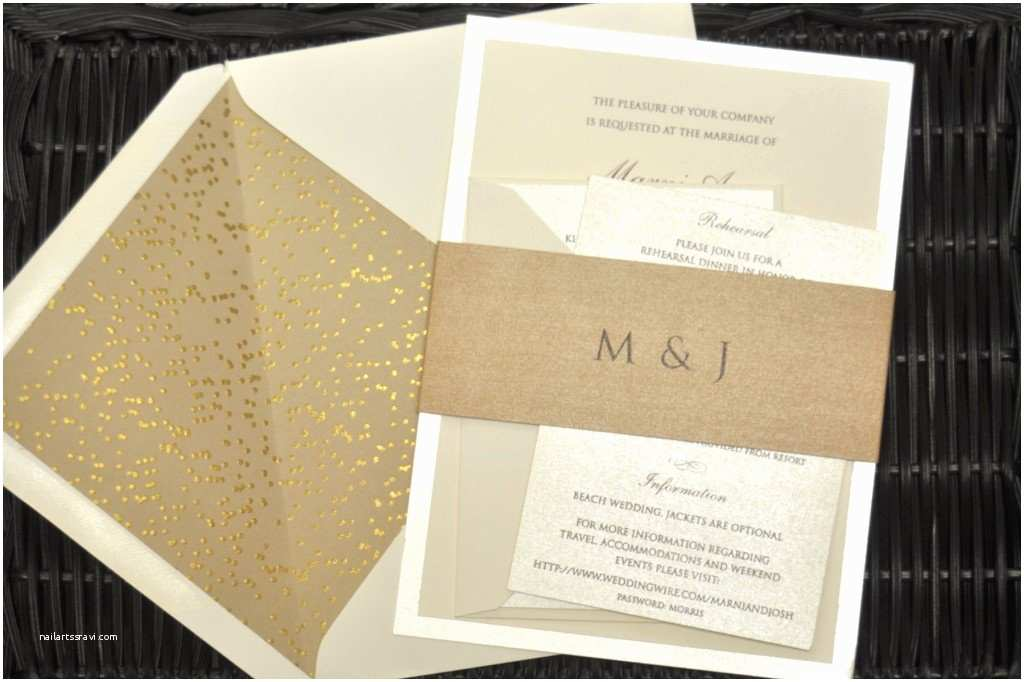 Champagne Wedding Invitations Champagne Colored Wedding Invitations