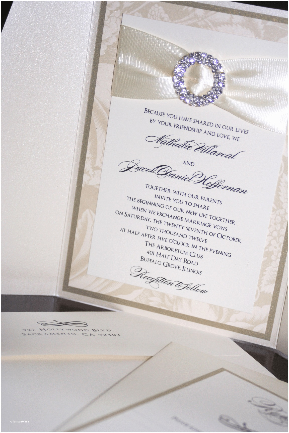 Champagne Wedding Invitations Champagne Wedding Invitations too Chic & Little Shab