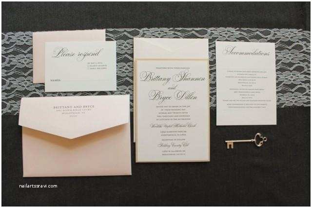 Champagne Wedding Invitations formal Gold Wedding Invitation Champagne and Blush Pink