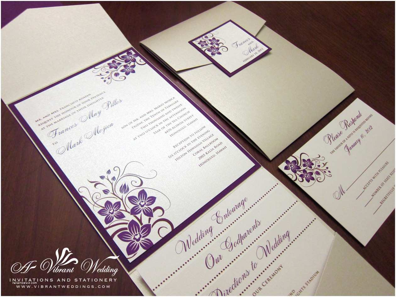 Champagne Wedding Invitations Purple Wedding Invitation – A Vibrant Wedding
