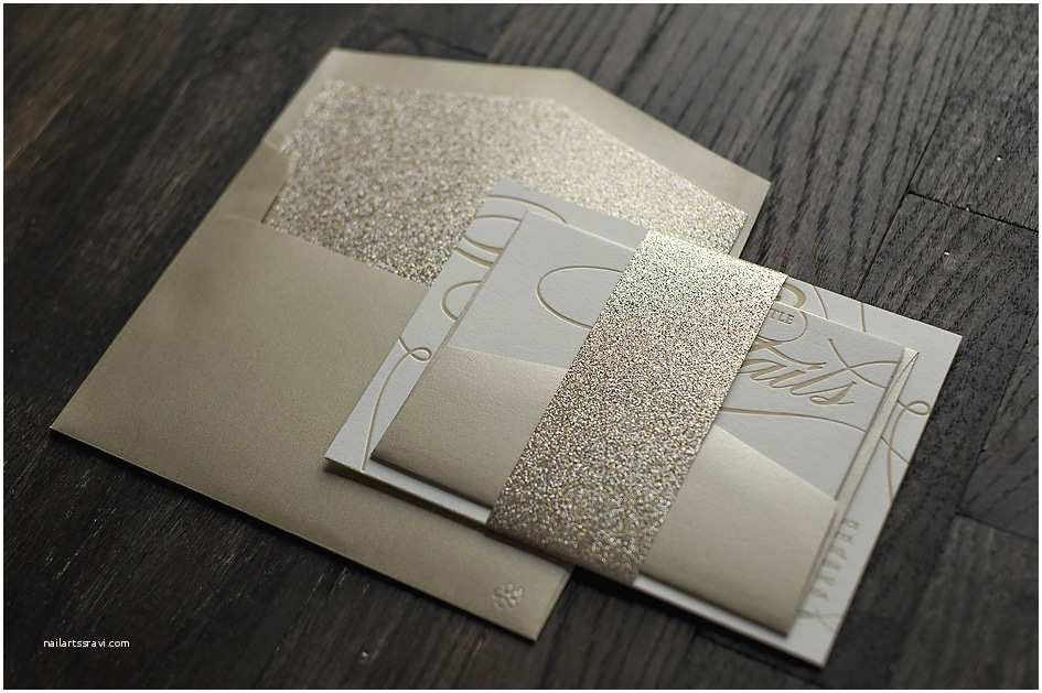 Champagne Wedding Invitations Real Wedding ashley and Chris