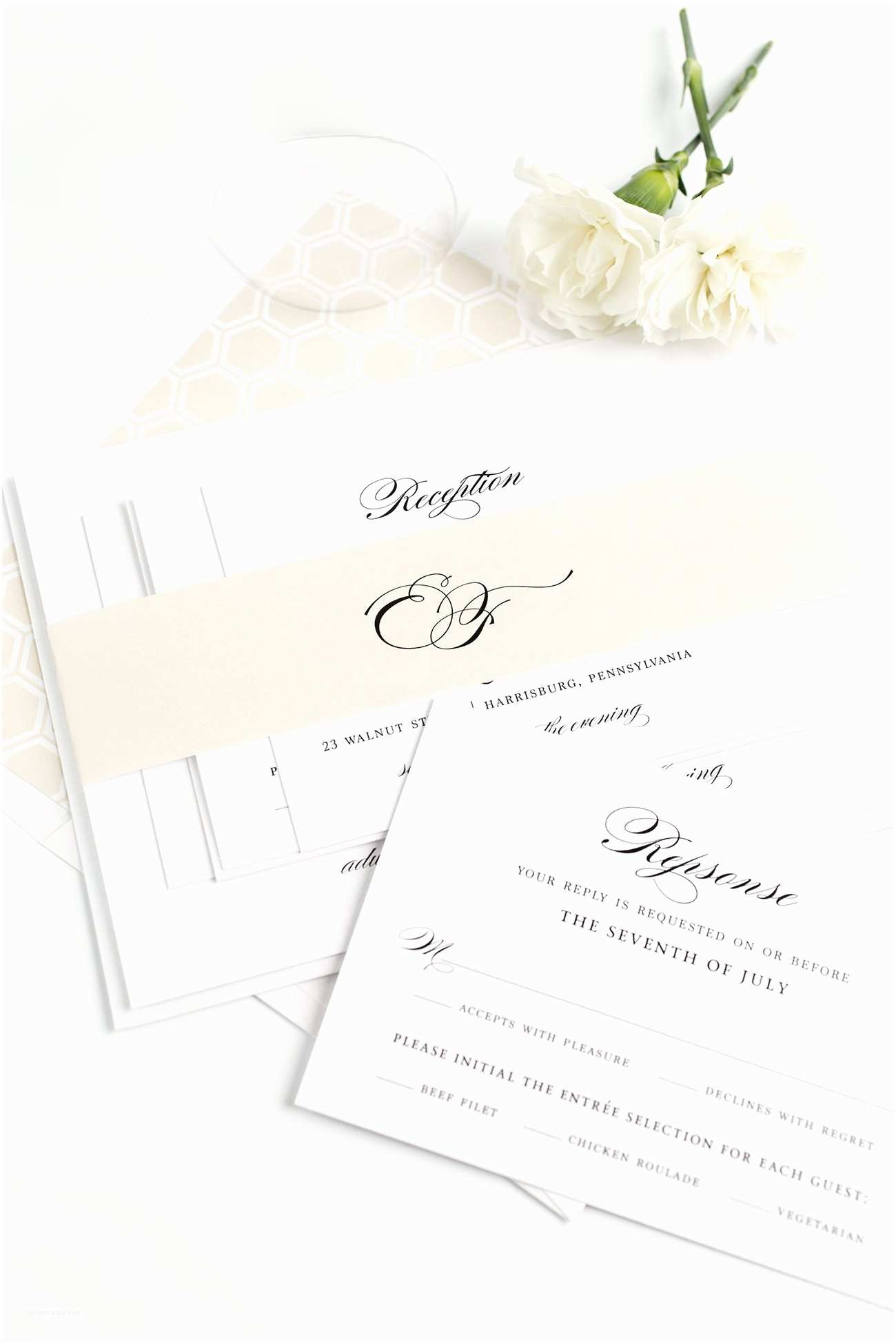 Champagne Wedding Invitations Timeless Elegance Wedding Invitations In Champagne