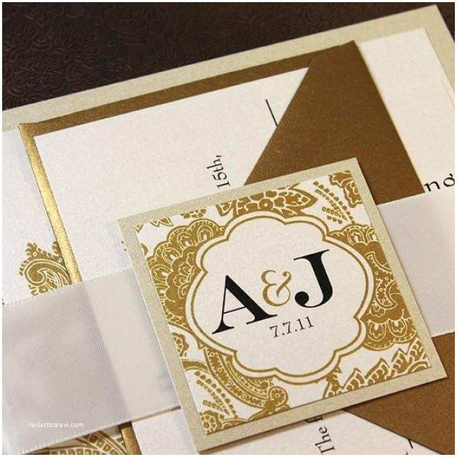 Champagne Wedding Invitations Wedding Invitation Champagne Gold Wedding Invitation