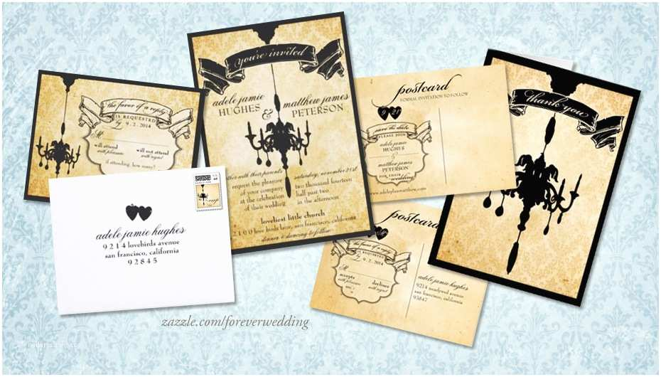 Chandelier Wedding Invitations Invitation Spotlight Victorian Chandelier Damask Wedding