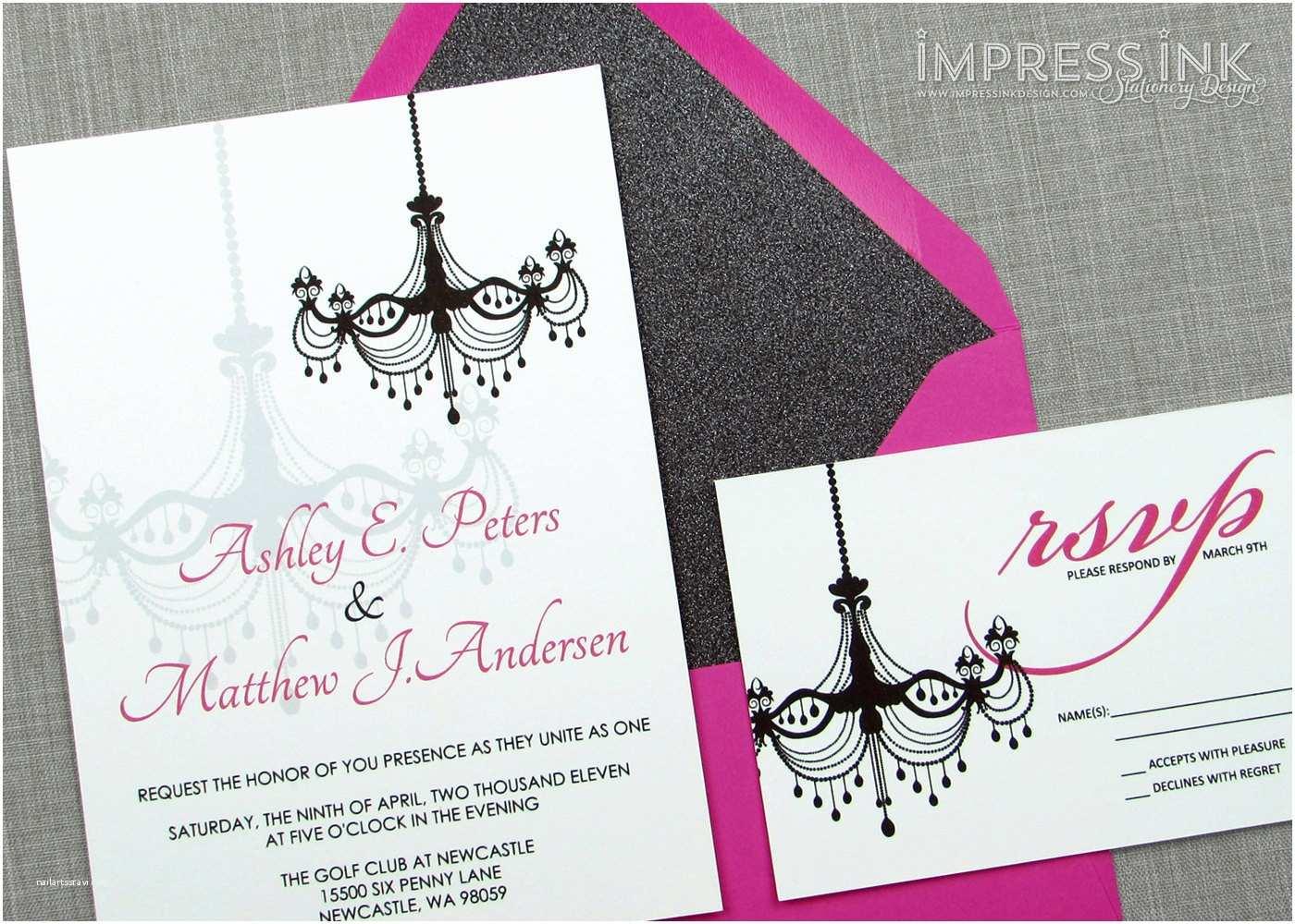 Chandelier Wedding Invitations Modern Victorian Chandelier Wedding Invitation Sample Flat