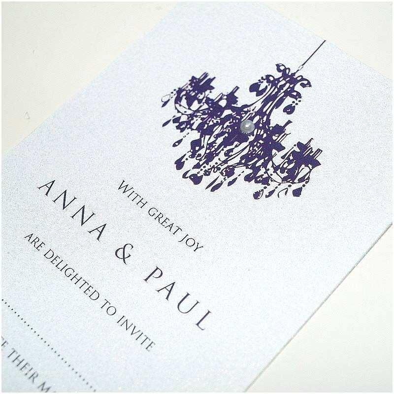 Chandelier Wedding Invitations Personalised Chandelier Wedding Invitation by Beautiful