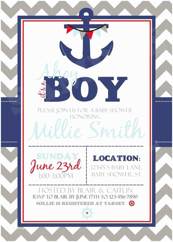 Cheap Baby Shower Invitations for Boy Baby Shower Invitations Cheap Nautical theme Baby Shower