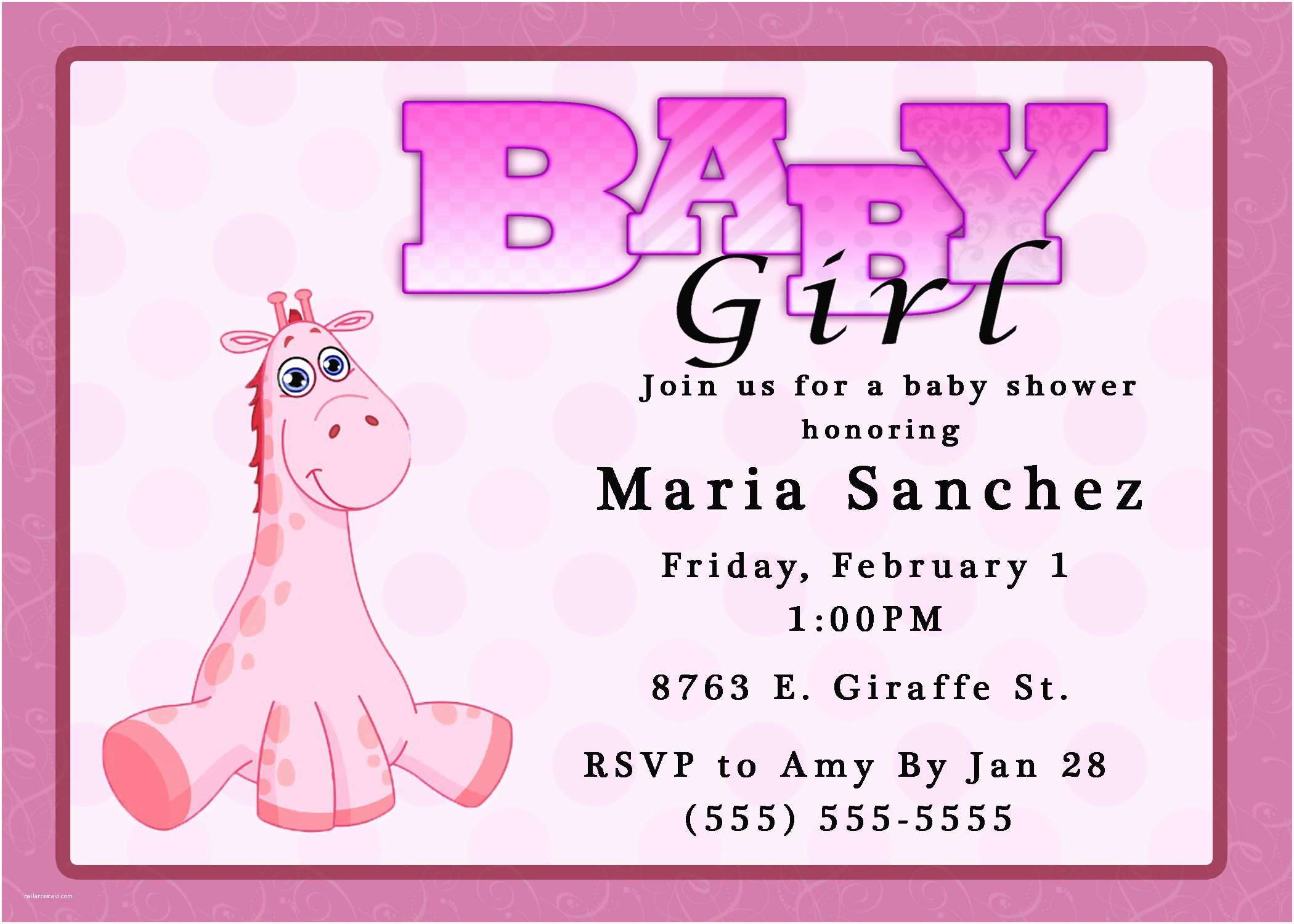 Cheap Baby Shower Invitations Girl Girl Baby Shower Invitations Discount — Anouk Invitations
