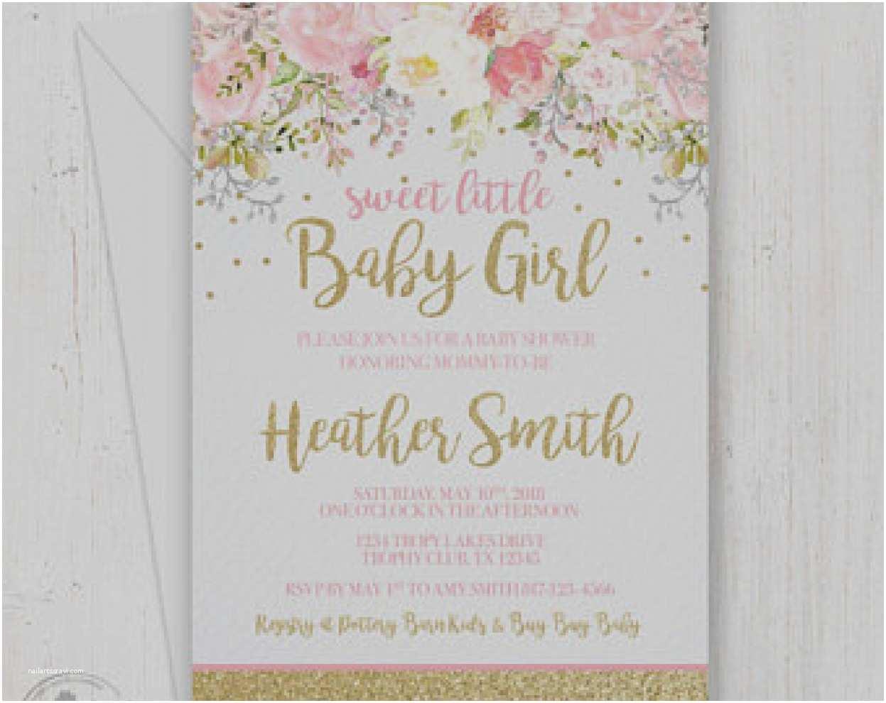 Cheap Baby Shower Invitations Girl Nice Baby Shower Invites Etsy Mold Invitations Design