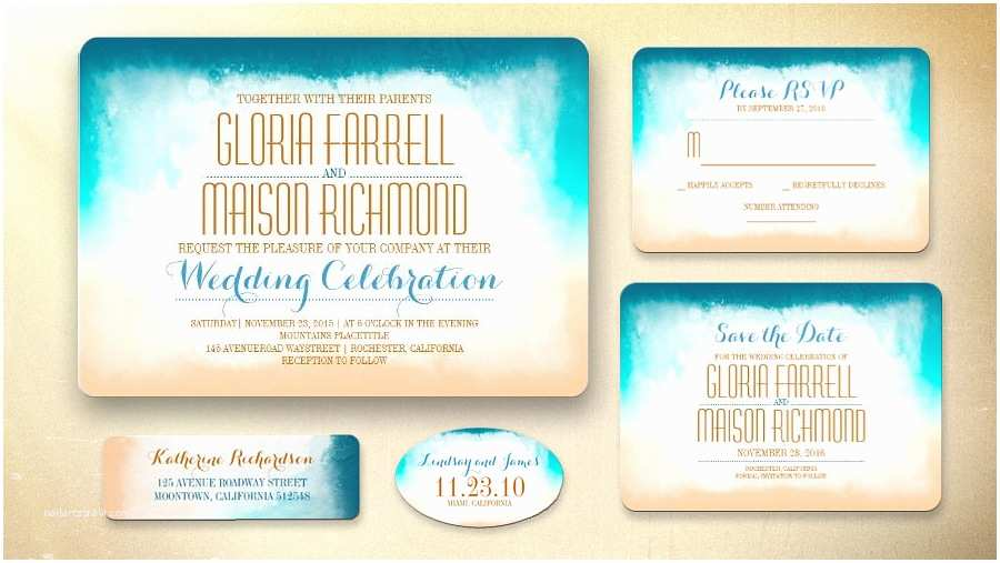 Cheap Beach Wedding Invitations Free Beach Wedding Invitations Cheap Free Beach Wedding