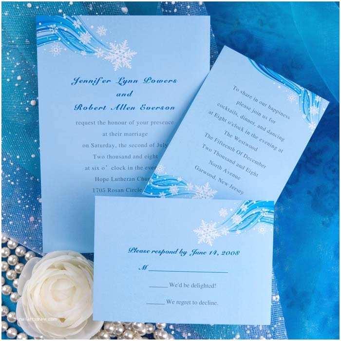 Cheap Beach Wedding Invitations Printable Elegant Snowflake Blue Winter Beach Wedding