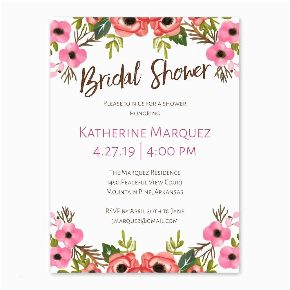 Cheap Bridal Shower Invitations Blooming Beauty Bridal Shower Invitation