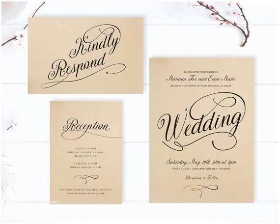 Cheap Country Wedding Invitations Kraft Wedding Invitations Cheap Rustic Wedding Invitation