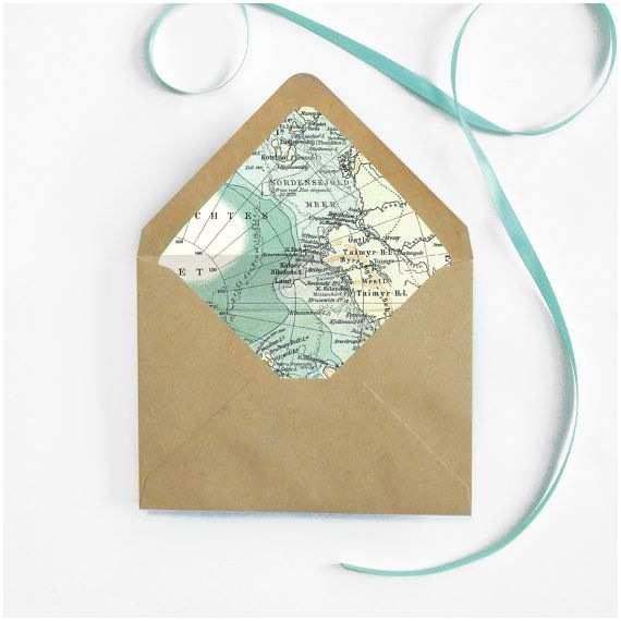 Cheap Destination Wedding Invitations Vintage Map Envelope Liner Diy Destination by