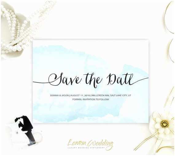 Cheap Destination Wedding Invitations Watercolor Save the Date Invitations Beach by Lemonwedding