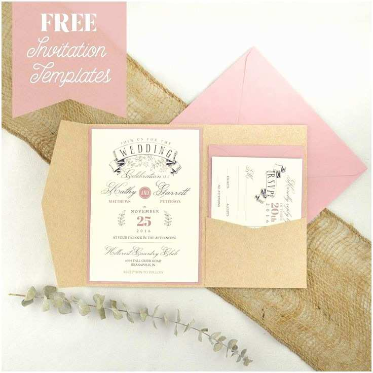 Cheap Diy Wedding Invitations 25 Best Ideas About Invitation Templates On Pinterest