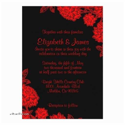 red and black wedding invitations cheap best of black white and red wedding invitation 5quot x 7quot invitation
