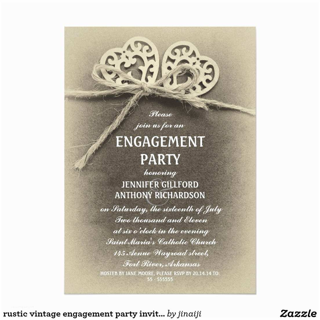 Cheap Engagement Party Invitations Engagement Invitations Rustic Vintage Engagement Party