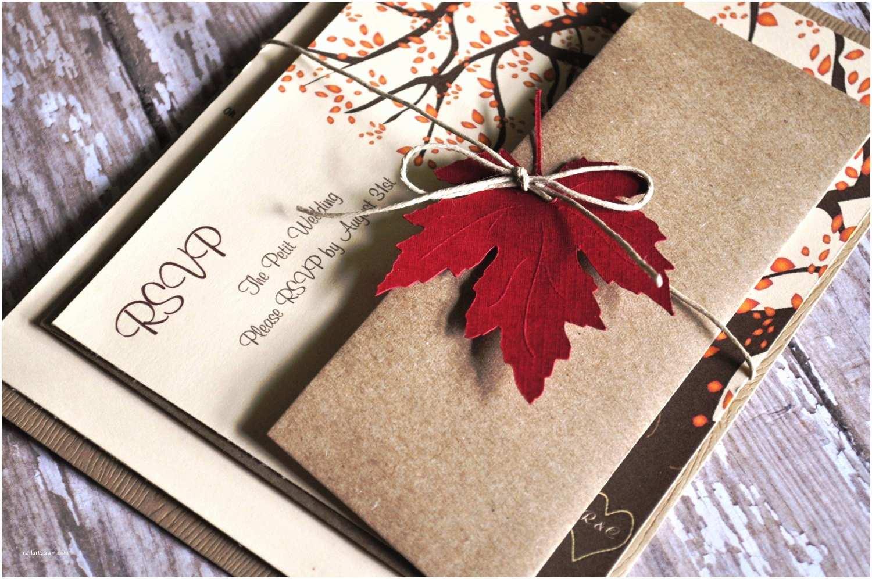 Cheap Fall Wedding Invitations Beautiful Fall Wedding Invitations with orange Burst