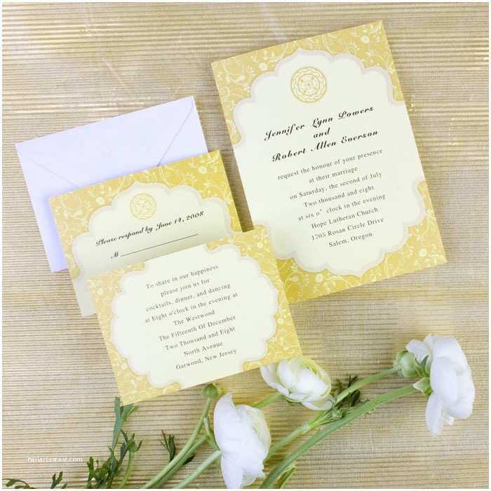 Cheap Fall Wedding Invitations Inexpensive Country Yellow Flower Fall Wedding Cards