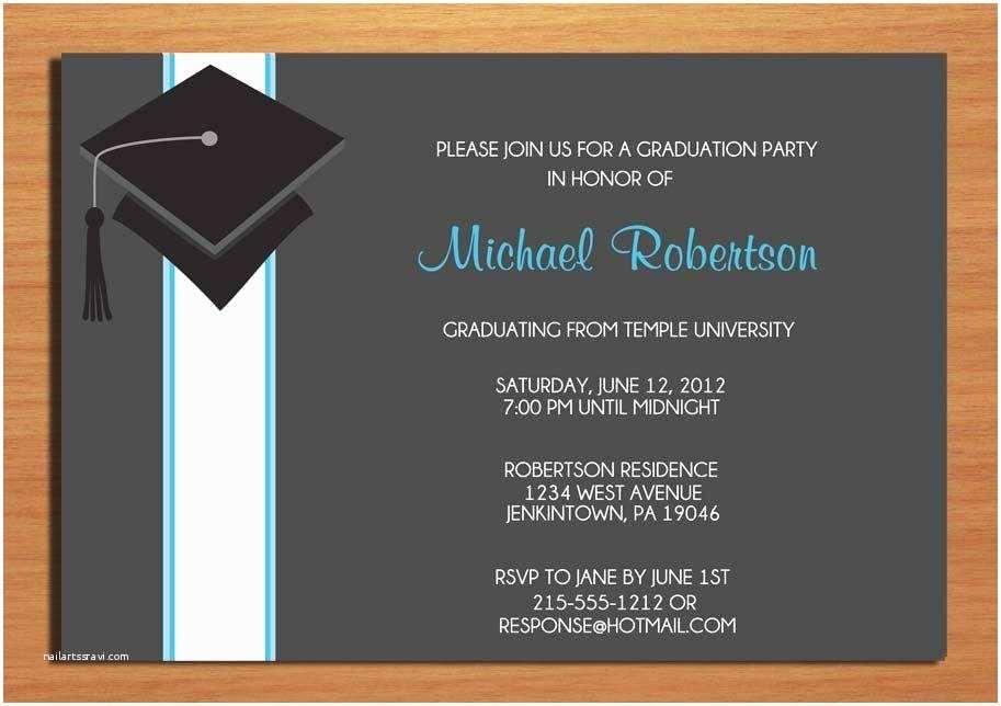 Cheap Graduation Party Invitations College Graduation Party Invitation Wording A Birthday Cake