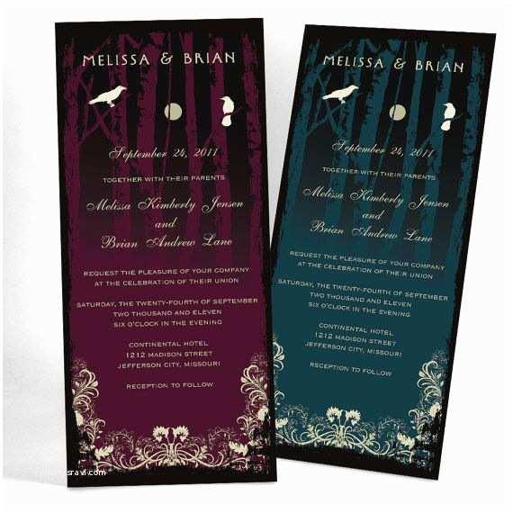 Cheap Halloween Wedding Invitations 1000 Ideas About Halloween Wedding Invitations