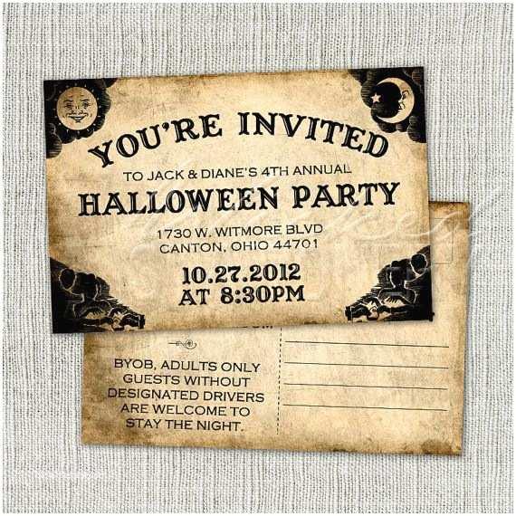 Cheap Halloween Wedding Invitations 38 Best Halloween Invites Images On