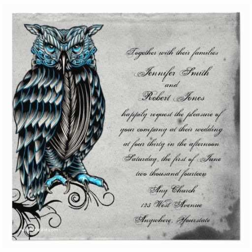 Cheap Halloween Wedding S Blue Gothic Owl Posh Wedding