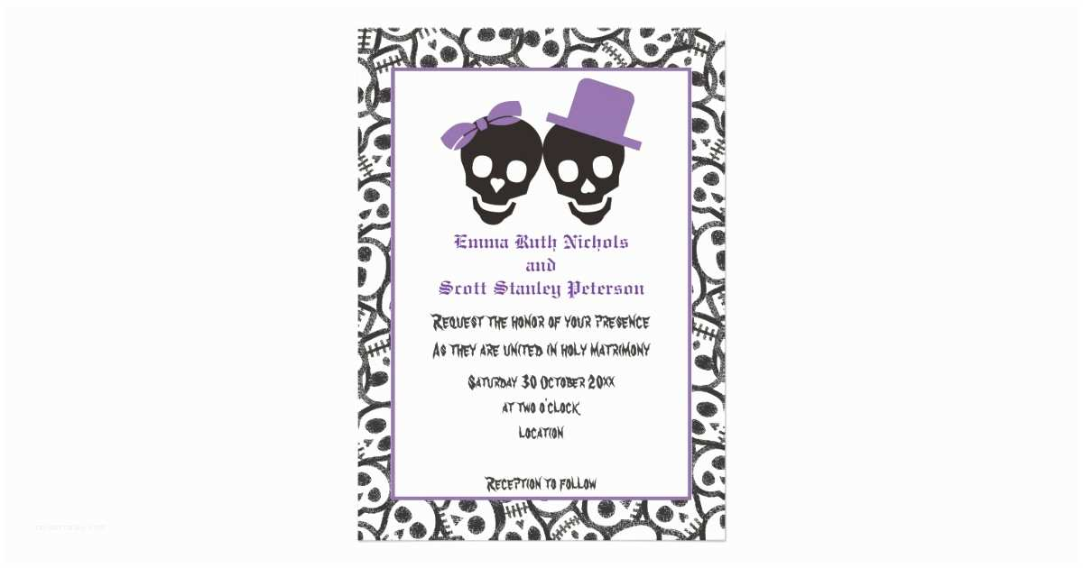 Cheap Halloween Wedding S Elegant Skulls Halloween Purple Wedding